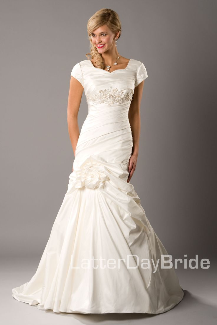 80 best wedding dress images on pinterest wedding frocks for Mormon temple wedding dresses