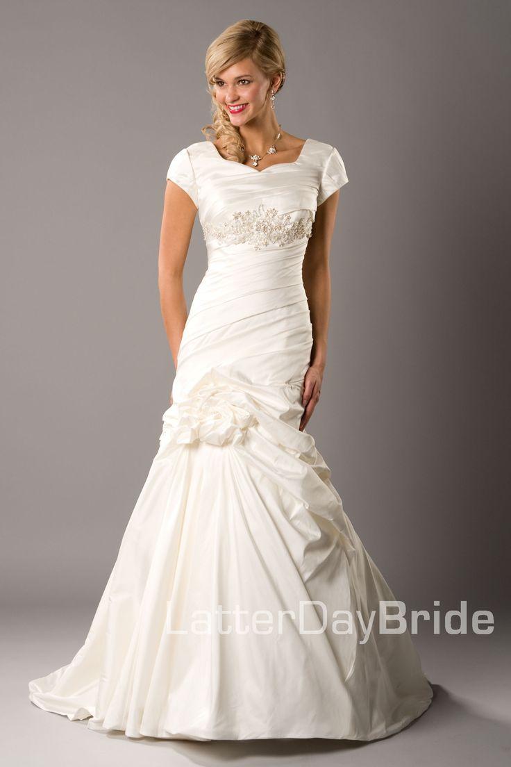 80 best wedding dress images on pinterest wedding frocks for Cheap lds wedding dresses