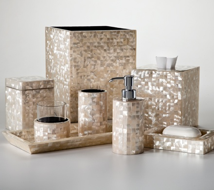 Bling bathroom accessories shop home fashions bling 4 for Bathroom accessories with bling