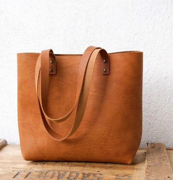 En iyi 17 fikir, Leather Tote Bags Pinterest'te | Sepet çantalar