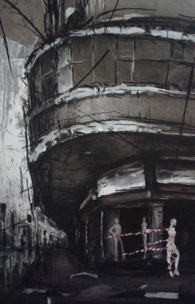 Charcoal and conté on board 2015