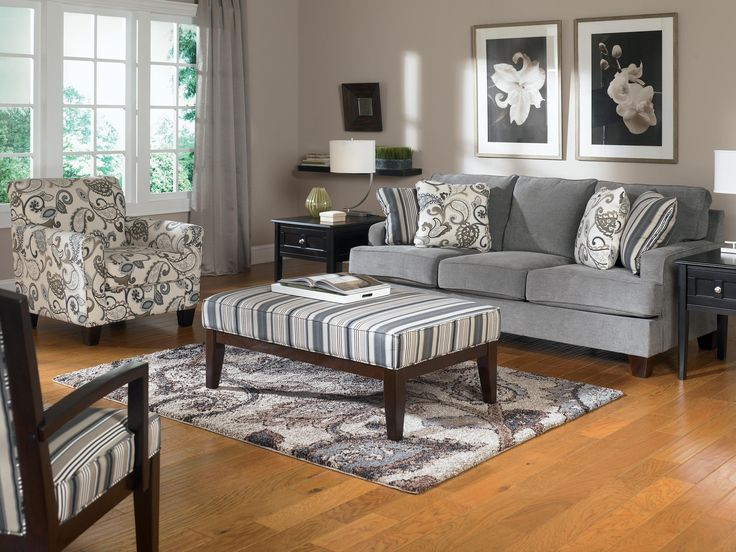 Ashley Furniture Yvette - Steel Stationary Sofa w/ Loose Seat Cushions - Miskelly Furniture - Sofa Jackson, Mississippi
