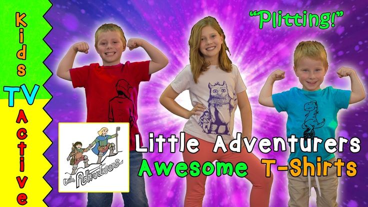 New T-Shirts from LITTLE ADVENTURERS for kids! Kids TV Active being sill...