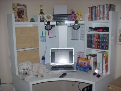 $130 OBO Ikea MICKE Corner Workstation - White | Bella ...