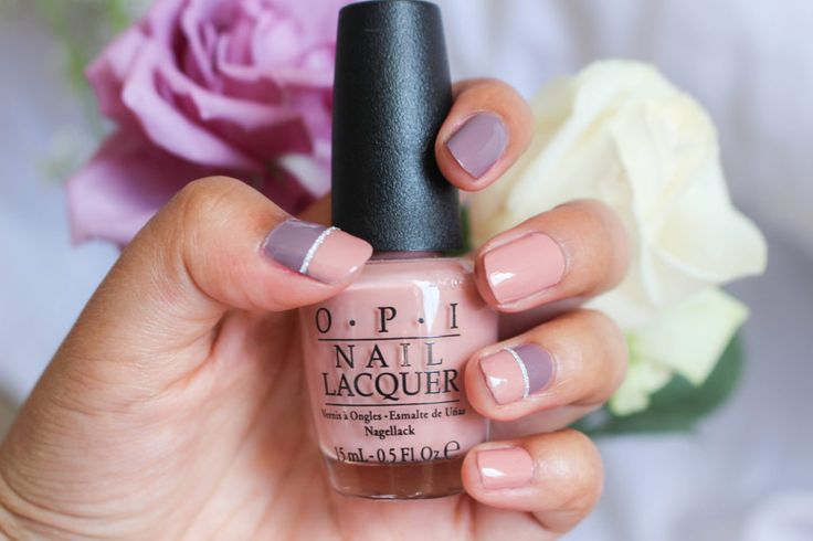 How to Create Two Tone Nails - floralextract.com