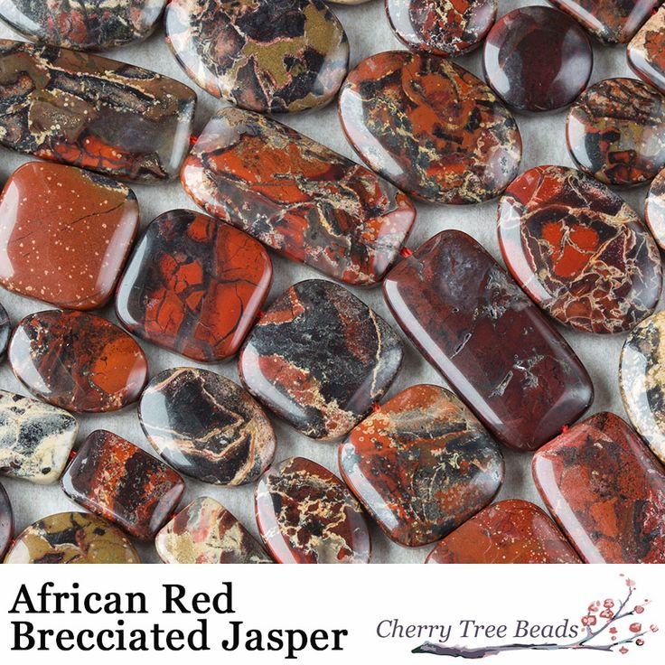 African Red Brecciated Jasper is a beautiful earthy red and dark brown gemstone with bits of grey and cream. Found in South Africa, it has a hardness of 6.5-7 and is veined with Hematite making it perfect for grounding your root chakra. This is a stone of strength and can help to add stability to your life and strengthen mental awareness.