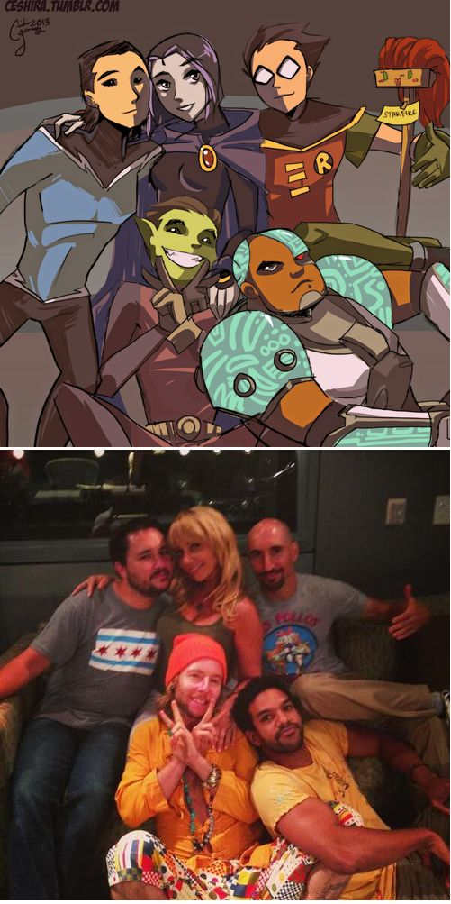 Teen Titan actors(starfire is a mop in the first pic Lol)