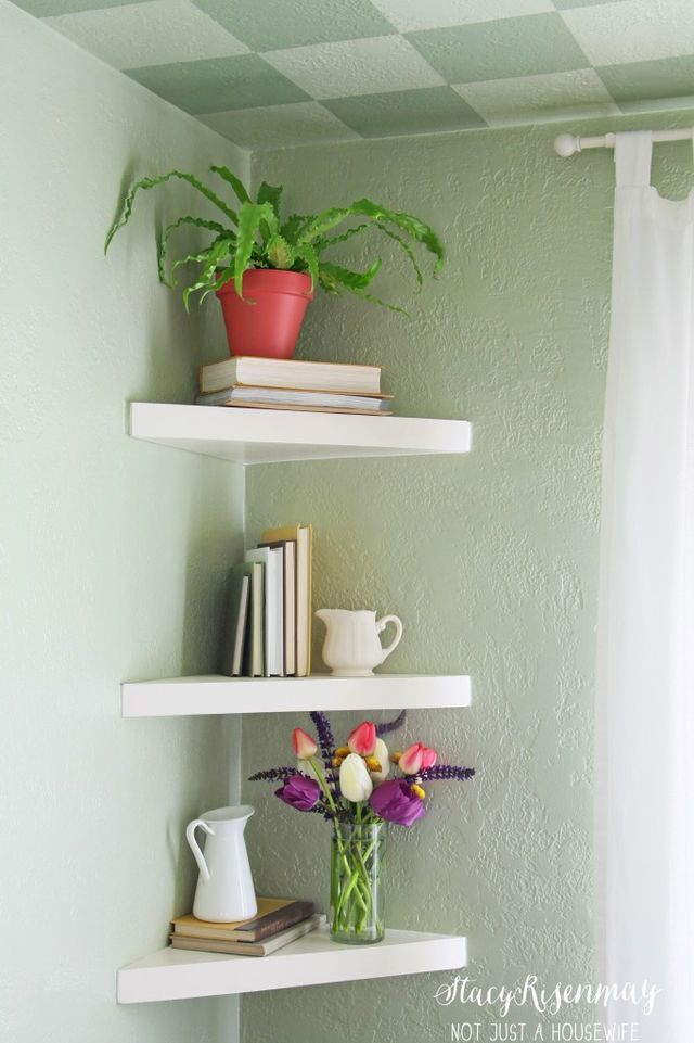 Floating Corner Shelves (Not JUST A Housewife)