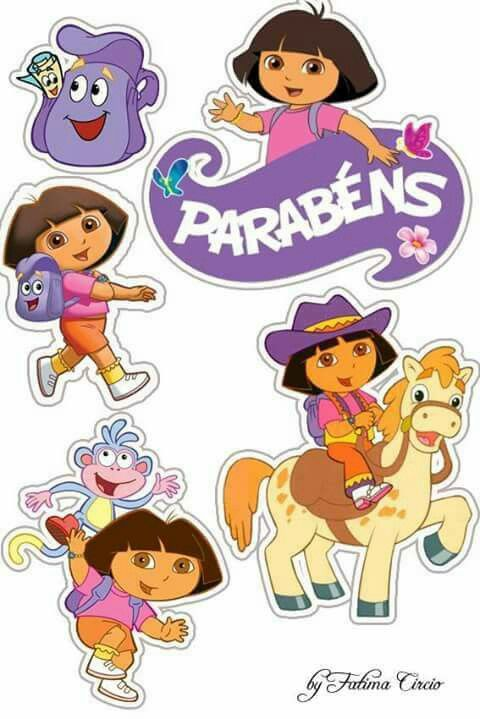 Toppers de Dora aventureira