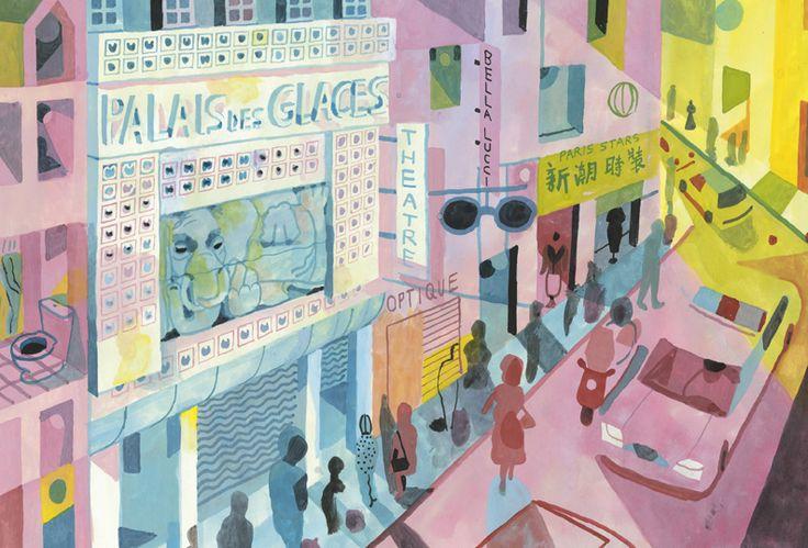 Palais des Glaces, 37 rue du Faubourg du Temple, 10ème arr. - aquarelle, encre et gouache sur papier taille cm Réf. : evensparis024