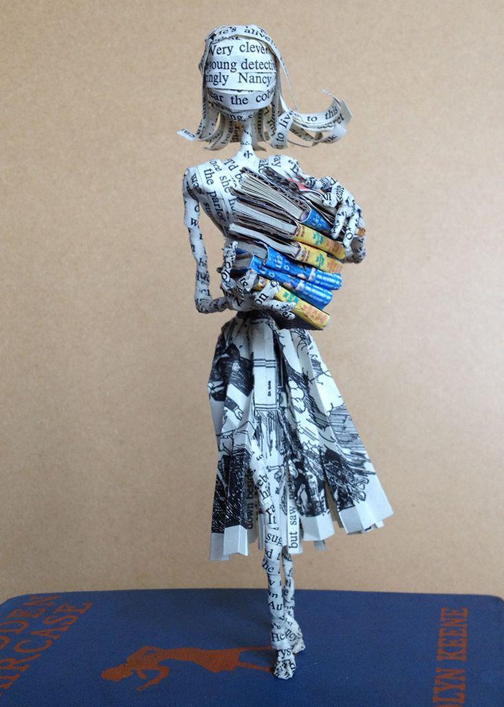 """"""" Book Sculptures by Allison Glasgow"""