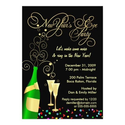 200 best New Year Eve party invitations images – Champagne Party Invitations