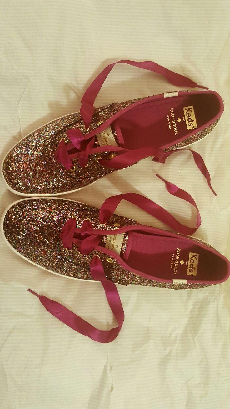 I've died and gone to glitter heaven! Kate Spade for Keds #katespade #keds #glitter #shoes #kicks