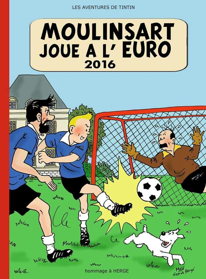Moulinsart joue à l'Euro 2016. Mov d'après Hergé.