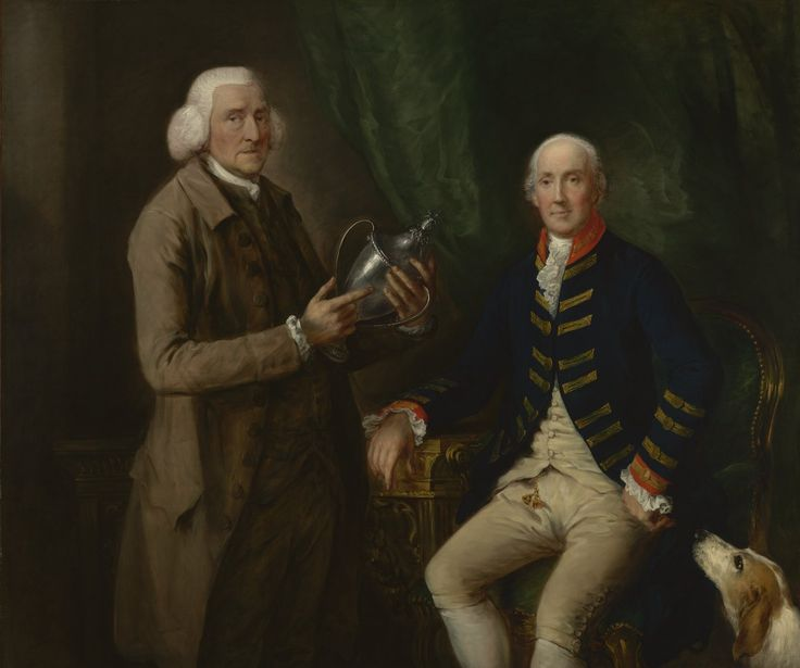 Thomas Gainsborough - William Anne Hollis, 4th Earl of Essex, presenting cup to Thomas Clutterbuck of Watford, c. 1784/85