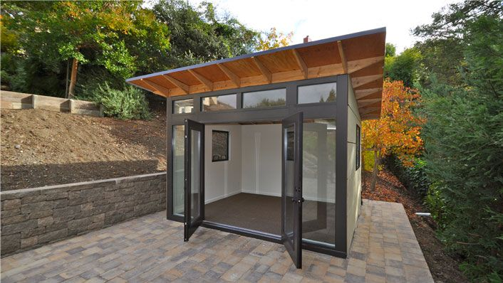 backyard office prefab. dwellers without decorators prefab office socal apt living pinterest studio backyard t