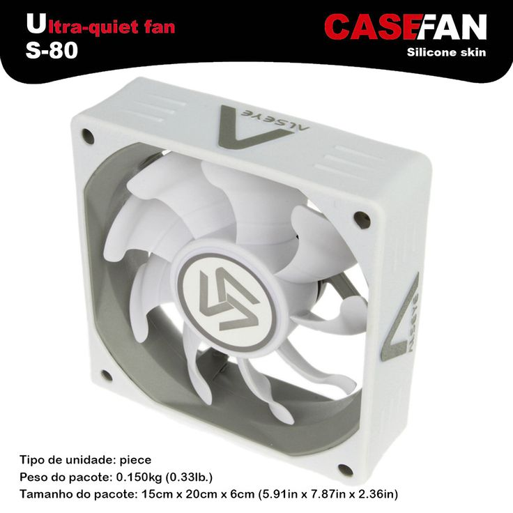 ALSEYE S-80 DC computer fan 80mm 2000RPM 3 pin 12v cpu cooler fan for computer chassis