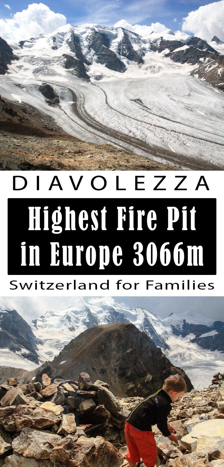 Highest fire pit in Europe at this gorgeous glacier overlook. Great for families in Switzerland.