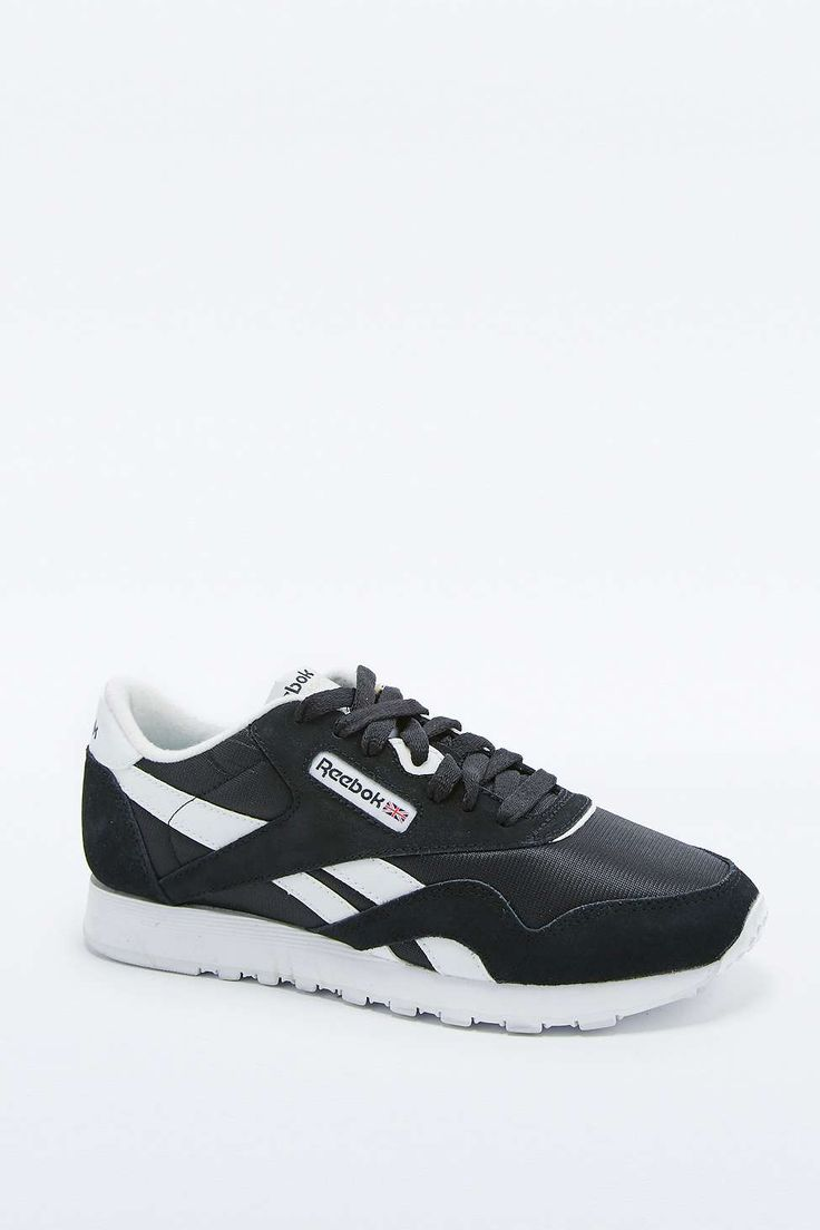 Reebok Classic Black and White Trainers
