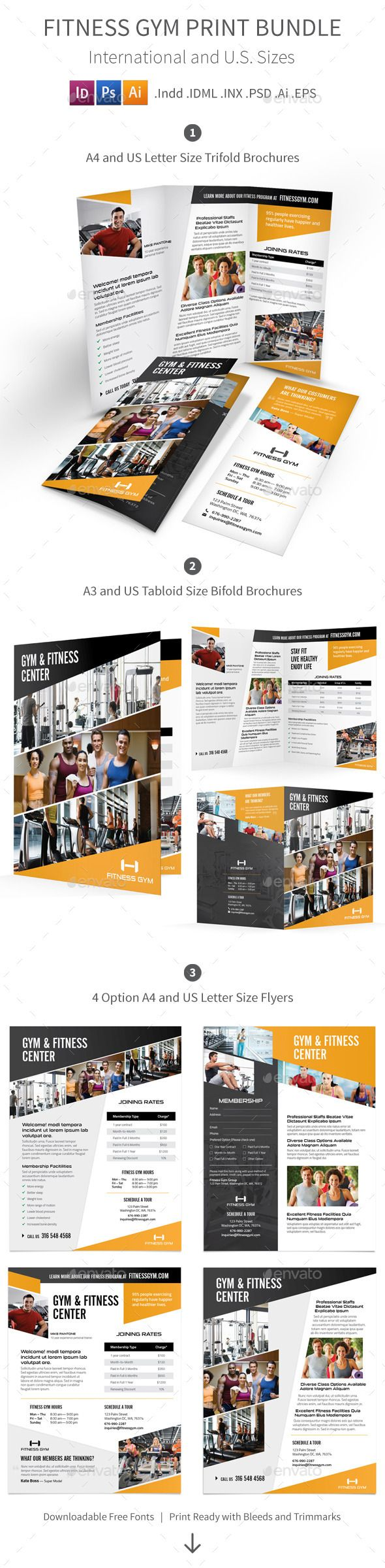 Best Fitness  Gym Flyers Images On   Fitness Flyer