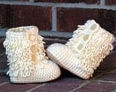 crochet booties....adorable
