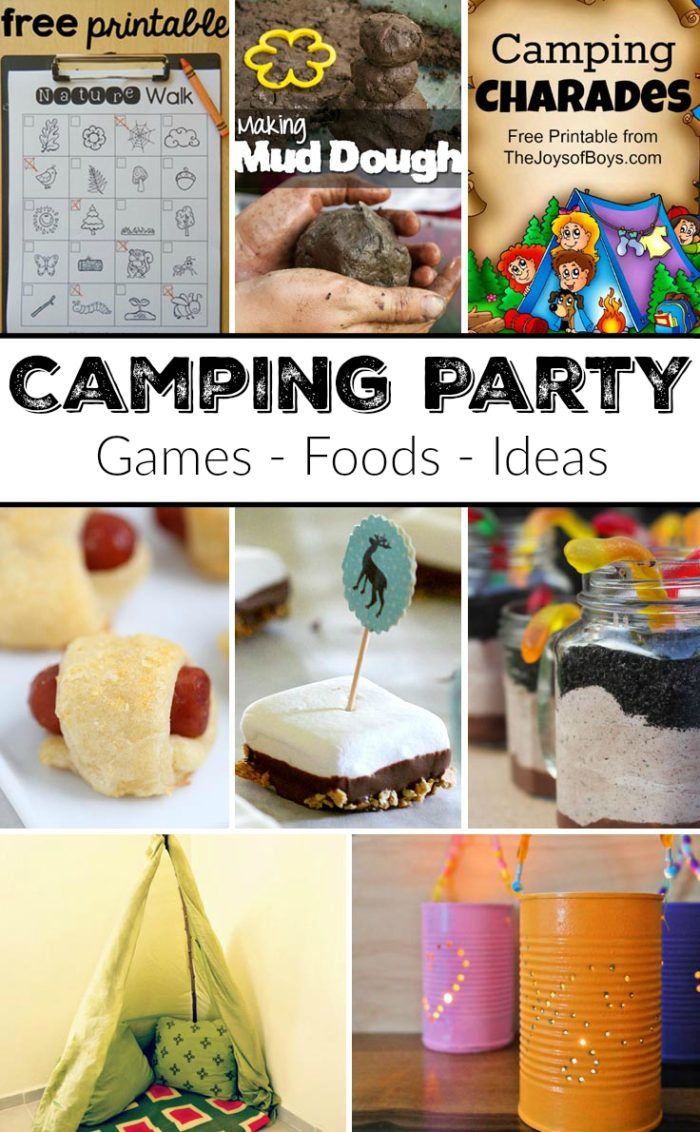 The BEST way to throw a camping themed party like foods, games and ideas. This is such a fun idea for a Birthday Party for your kids!!!
