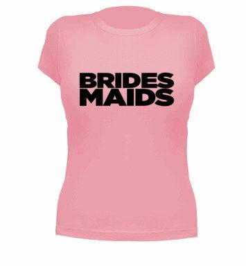 camisetas originales para la novia y las damas de honor  http://woohoo-weddings.com/blog/2013/07/02/que-me-pongo-29-el-equipo-de-la-novia/