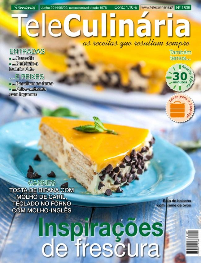 TeleCulinária Semanal Portuguese Magazine - Buy, Subscribe, Download and Read TeleCulinária Semanal on your iPad, iPhone, iPod Touch, Android and on the web only through Magzter