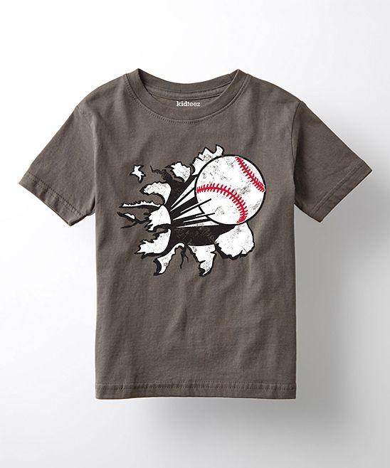 Charcoal Baseball Tee - Toddler & Kids