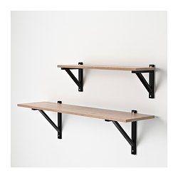 EKBY HEMNES Hyllplan - gråbrun - IKEA Hyllor för Pentry med pallar. 119x 28 cm 165 sek.
