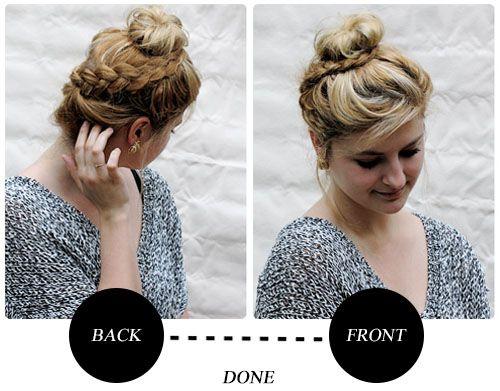 bad hair day fix: the braided bun | Dressed Up Alligators