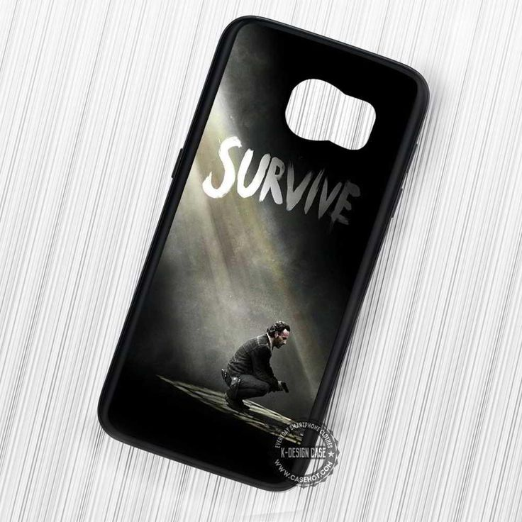 The Walking Dead Survive Rick Grimes - Samsung Galaxy S7 S6 S5 Note 7 Cases & Covers