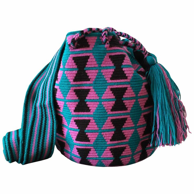 $60.00 Retail Price SINGLE THREAD SMALL Mochila Wayuu Bag | RETAIL + WHOLESALE | Handmade and Fair Trade Wayuu Mochila Bags LOMBIA & CO. | www.LombiaAndCo.com