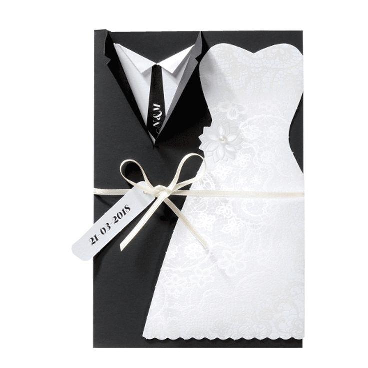 Kreative Hochzeitskarten aus exklusivem Premiumpapier online bestellen bei Top-Kartenlieferant oder Vorort bei Wimmer Druck in Aachen. (Diy Dress)