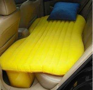 Inflatable Car Airbed Makes Sleeping in Your Car More Comfortable #uniquefurniture