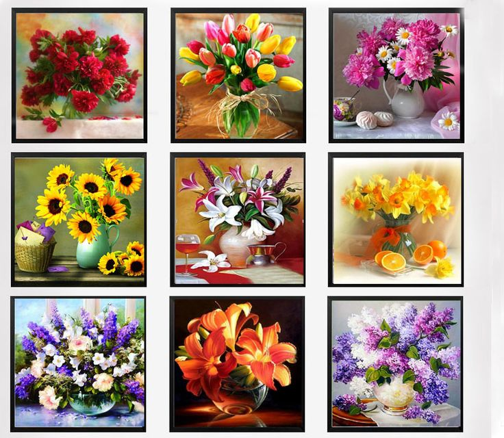 Click Image to Buy.  Flower arranging 5D DIY diamond Painting flowers  Cross Stitch diamond embroidery mosaic diamonds wall stickers home decor vase *~* Just click the VISIT button to view the details on  AliExpress.com