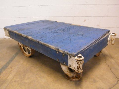 Columbus Architectural Salvage   Industrial Factory Cart