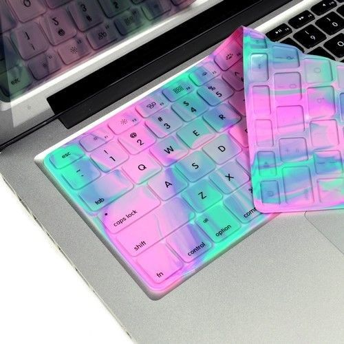"Abstract Lavender Spring Aurora Silicone Keyboard Cover for Macbook 13"" 15"" 17"""