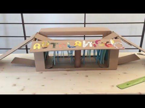 Comieco Faidate: tutorial autolavaggio. Cosa occorre? Ovviamente uno scatolone di cartone, fogli di carta colorata, colla, forbici, taglierino, rotoli di carta igienica e righello. Consigliamo sempre la supervisione di un adulto! Bastano circa 20 minuti per la realizzazione.  #DIY
