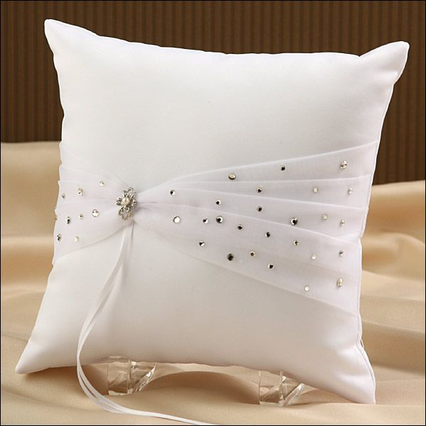 Ring Bearer Pillow - Sparkle - White