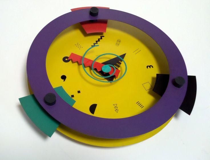 Memphis Design Wakita Wall Clock for Canetti Company. $274.00, via Etsy.