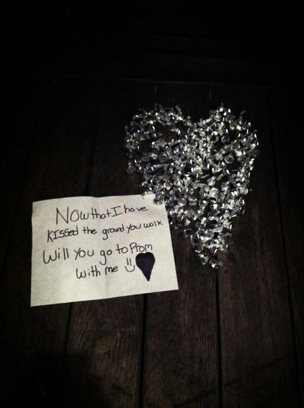 25 best will you go images on pinterest dance proposal prom how to ask someone to homecoming see more hersheys kisses on front door now that ive kissed the ground you walk on ccuart Images