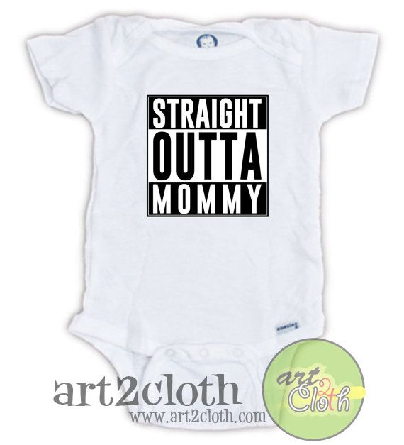 Straight Outta Mommy Baby Onesie //Price: $14.00 //     #shopping