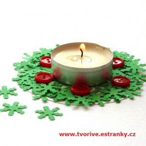 Rychlý svícen na čajovou svíčku
