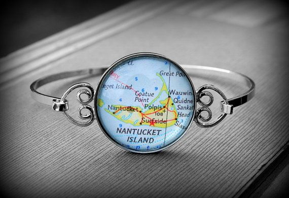 Nantucket Map Bracelet Bangle Jewelry http://www.etsy.com/listing/95652319/nantucket-map-bracelet-bangle-jewelry