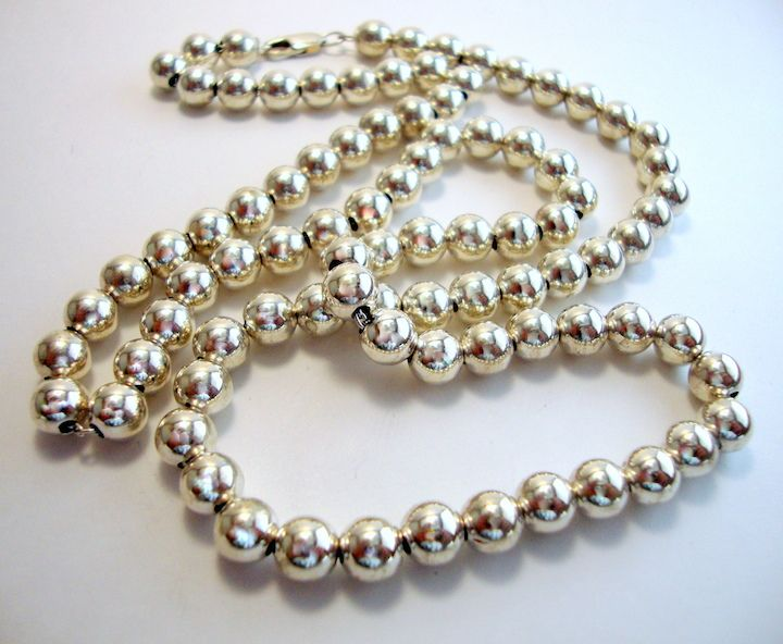 Classy Sterling Silver Bead Necklace @ http://thesilveroom.com/index.php/necklaces/silver-bead-necklace.html