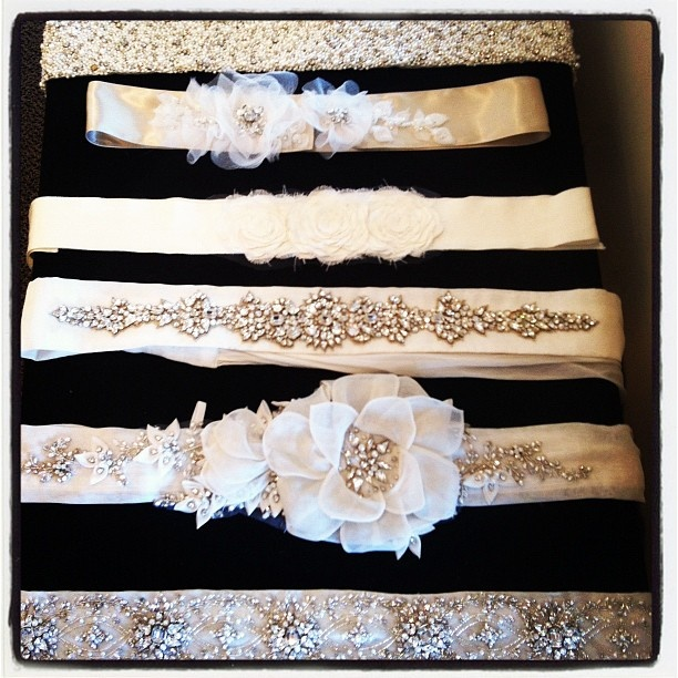 Check out these adorable sashes located at Solutions Bridal Orlando and Gainesville!