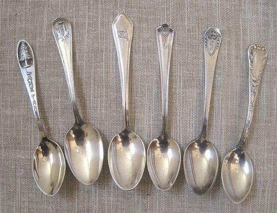 Vintage Kitchen Silver Plate Coffee Spoons Silver Plated Demitasse Spoon Set Teaspoons Sheffield Spoon Set