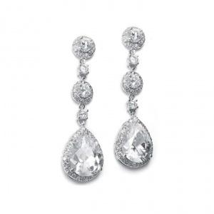 Stunning! CZ Wedding or prom earrings