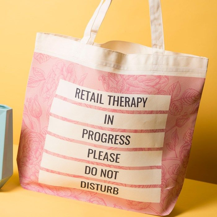 Personalised Tote Bag Retail Therapy